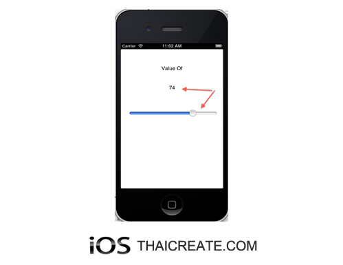 iOS/iPhone Slider (UISlider) Example