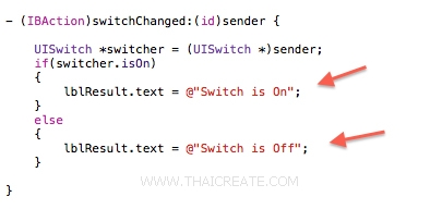iOS/iPhone Switch (UISwitch) Example