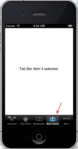 iOS/iPhone Tab Bar (UITabBar) and  Tab Bar Item (UITabBarItem)