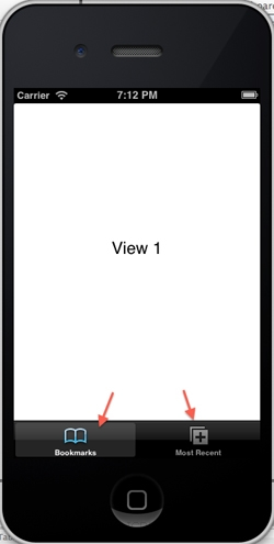 iOS/iPhone Tab Bar / Tab Item  and Multiple View