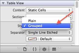 iOS/iPhone Table View Static Cell and Section Group