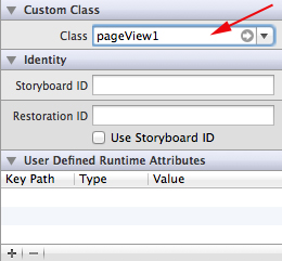iOS/iPhone Storyboard and Custom Class in View (Objective-C, iPhone, iPad)