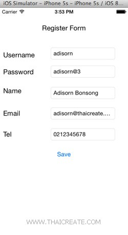 Register Form (iOS C# (Xamarin.iOS) and Mobile Services)