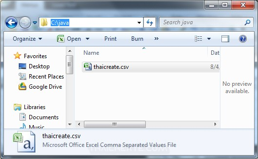 Java Create and Write CSV file