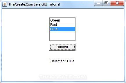 Java AWT and List (List)