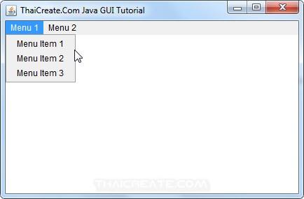 Java AWT and Menu/Menu Bar (Menu/MenuBar)