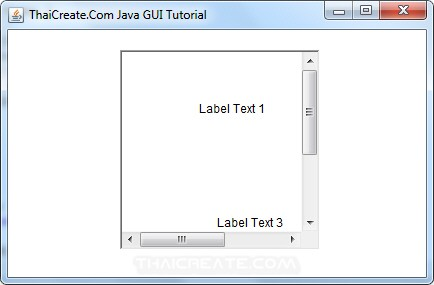 Java AWT and Scroll Pane (ScrollPane)