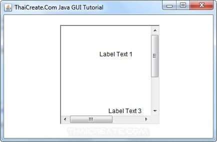 Java AWT and Scroll Pane (ScrollPane)