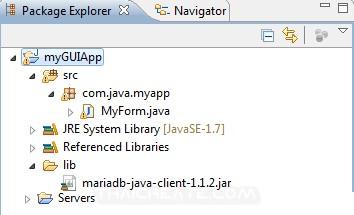 Java GUI and MariaDB Database