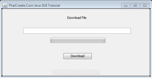 How to use : Java GUI Download file and Progress Bar