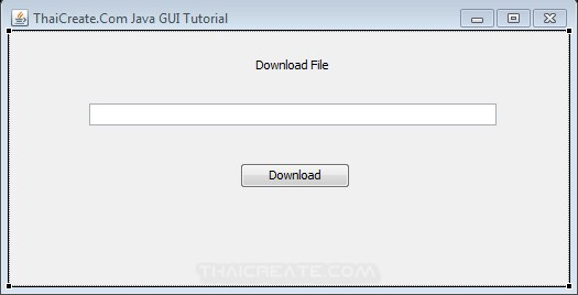 Java GUI Download file and Progress Bar