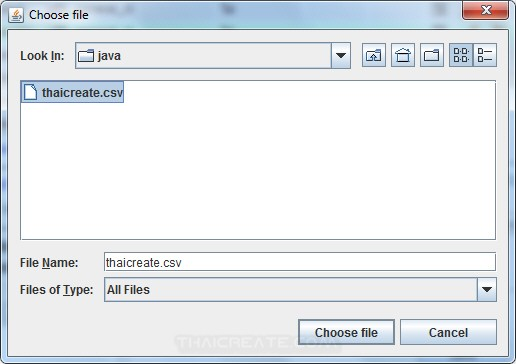 Java GUI Import CSV/Text to Database