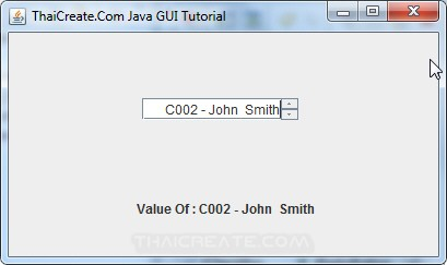 Java GUI JSpinner from Database