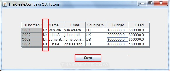 Java GUI JTable - Update data all Cell in JTable