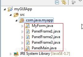 Java GUI Create Menu and Open Another Panel Layer
