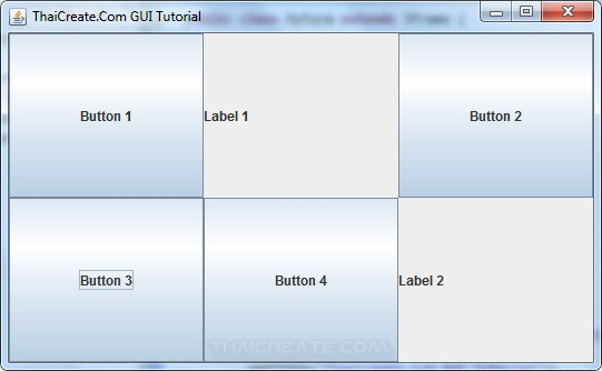 Java Grid Layout (GridLayout)
