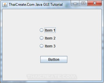 Java Button Group (ButtonGroup)