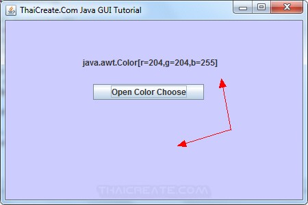 Java Swing and Color Chooser (JColorChooser)