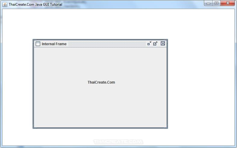 Java Desktop Pane (JDesktopPane)