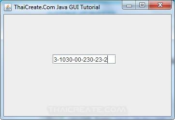 Java Formatted TextField (JFormattedTextField)