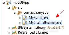 Java Internal Frame  (JInternalFrame)