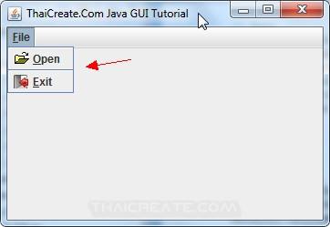 Java MenuBar (JMenuBar)