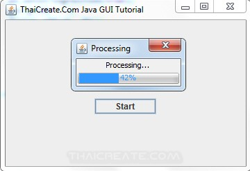 Java Progress Bar (JProgressBar)