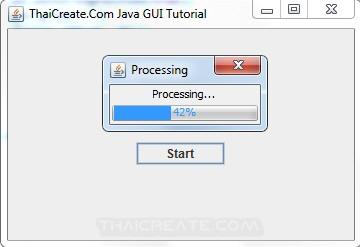 Java Progress Bar Jprogressbar Swing Example