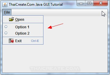 Java Menu Item/RadioButton  (JRadioButtonMenuItem)