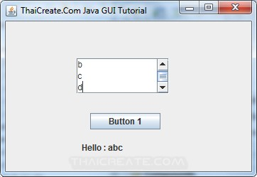 Java Text Area (JTextArea)
