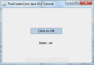 Java Toggle Button(JToggleButton)