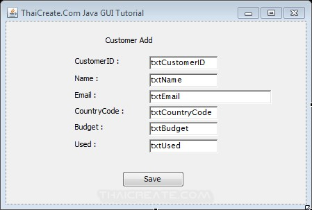 Java GUI Add Insert data to Database