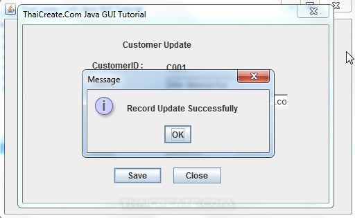 Java GUI Edit Update to Database