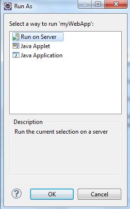 JSP Eclipse Create Run Project