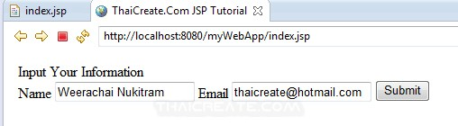JSP and Get Request Method