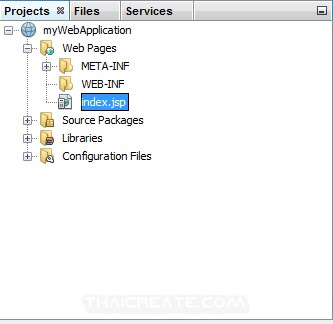 Netbeans Create JSP Run Project