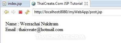 JSP and Post Request Method