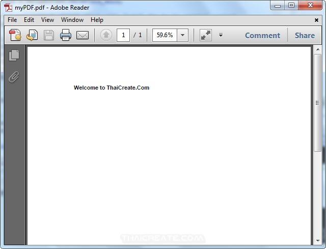 Java Create PDF and Generate PDF files