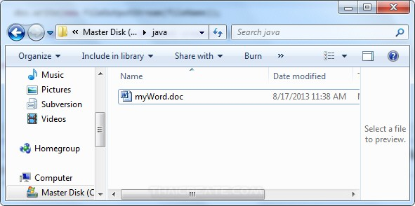 Java Word and Create  Word Document File