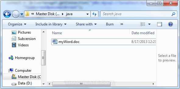 Java Generate Word Document Report from Database