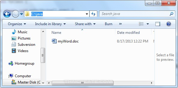 Java Create Word Document and Table Rows / Cell