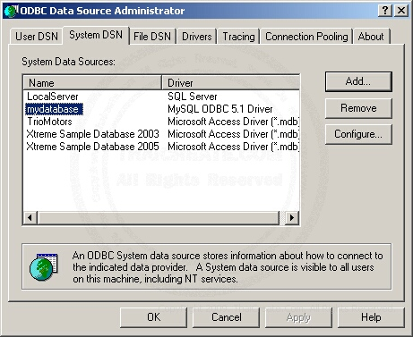 MySQL Data Source (ODBC)