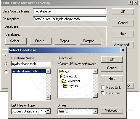 Microsoft Access Data Source (ODBC)