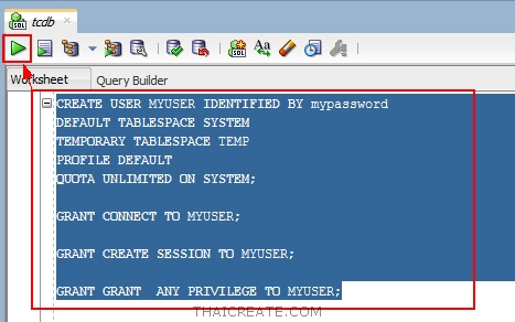Oracle SQL Developer Create User/Grant