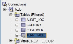 Declare Temp Table Oracle : Stored Procedure