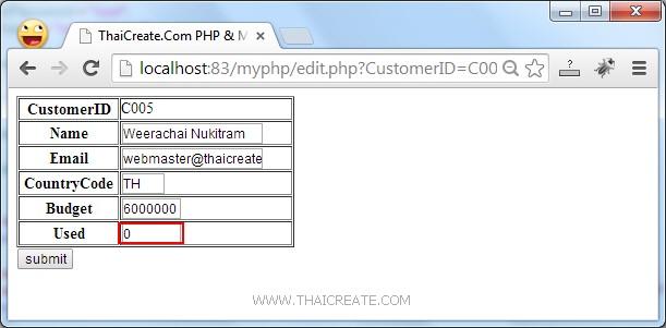 PHP MySQL Edit/Update Data Record(mysqli)