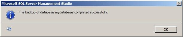 SQL Server 2008 Export/Backup
