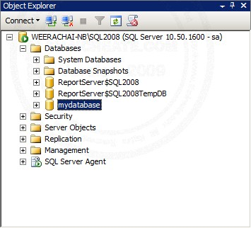 SQL Server 2008 Create Database and Table