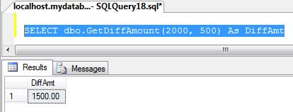 Function บน SQL Server