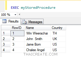 Declare Table SQL Server : Stored Procedure